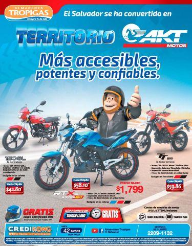 Promociones en MOTOS AKT distribuidor almacenes tropigas