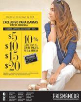 Viernes exclusivo para damas DESCUENTOS prisma moda - 06may16
