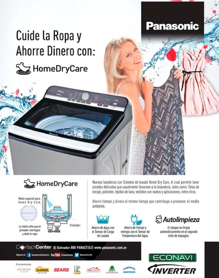 new washer machne ECONONAVI inverte home dry care