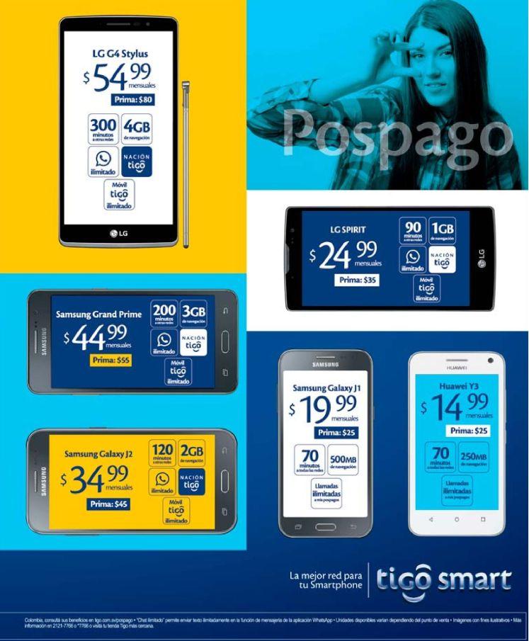 AMplia gama de smartphone disponibles en TIGO