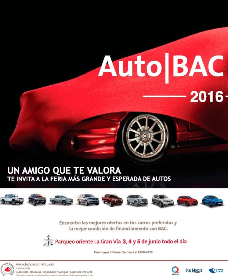Auto BAC 2016 parqueo oriente La Gran Via