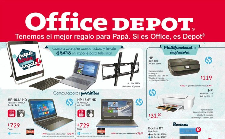 Catalogo de Regalos dia del padre office depot JUNIO 2016