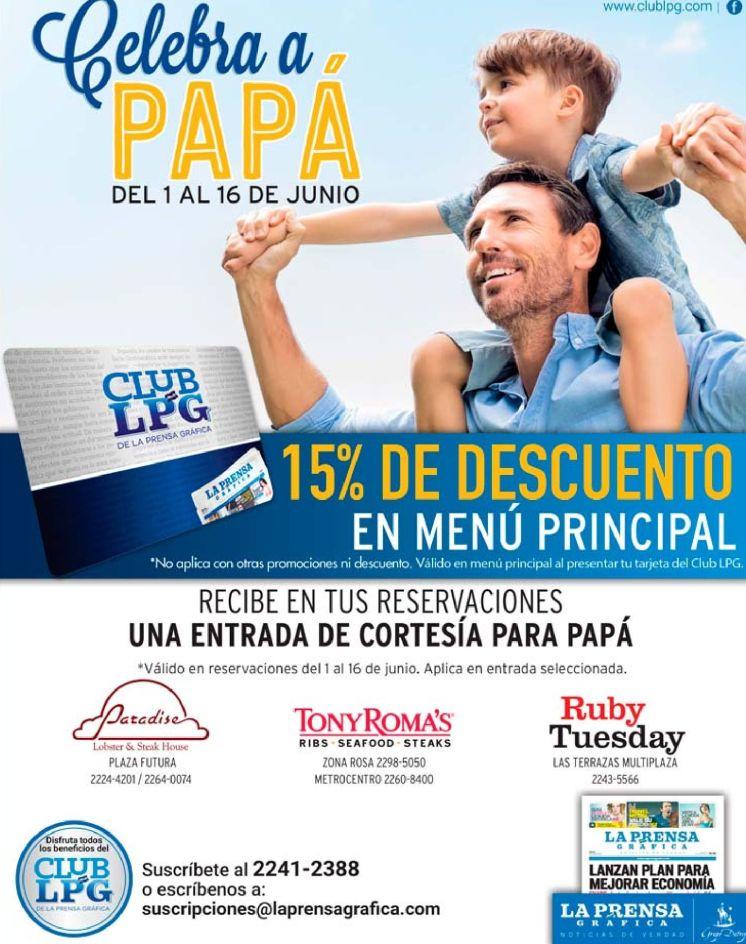 Celebra con PAPA con 15 off de descuento con tu suscripcion LPG
