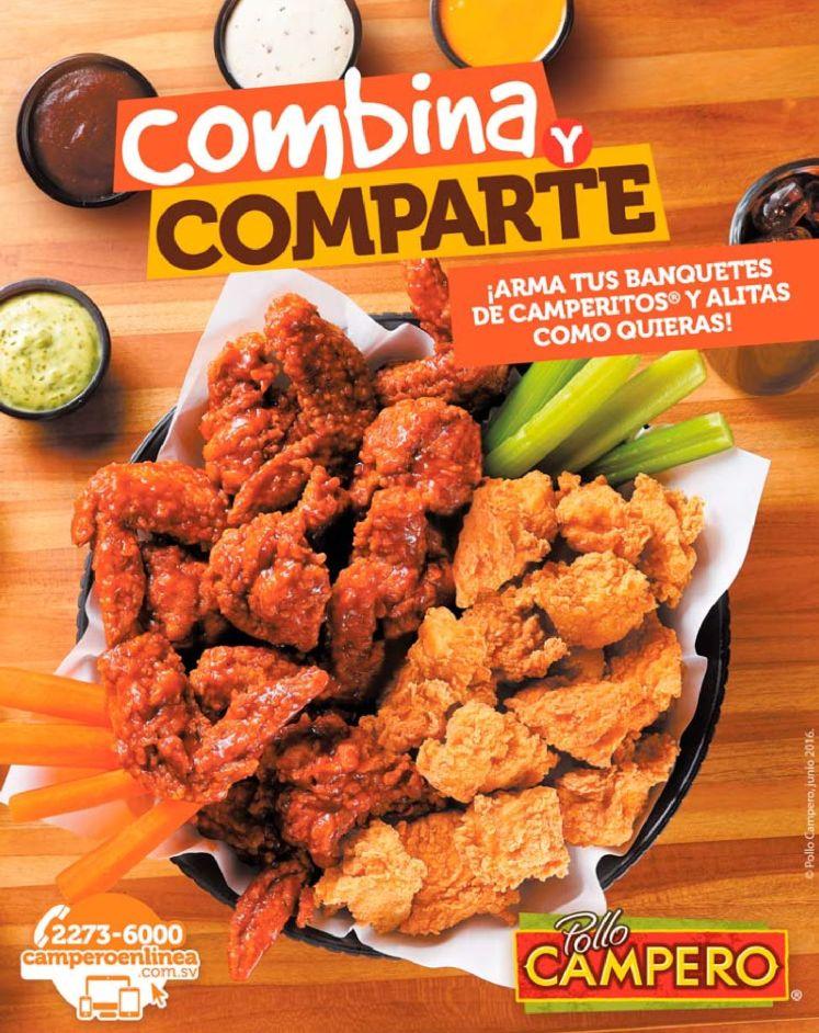 Combina y Comparte los menus del pollo campero