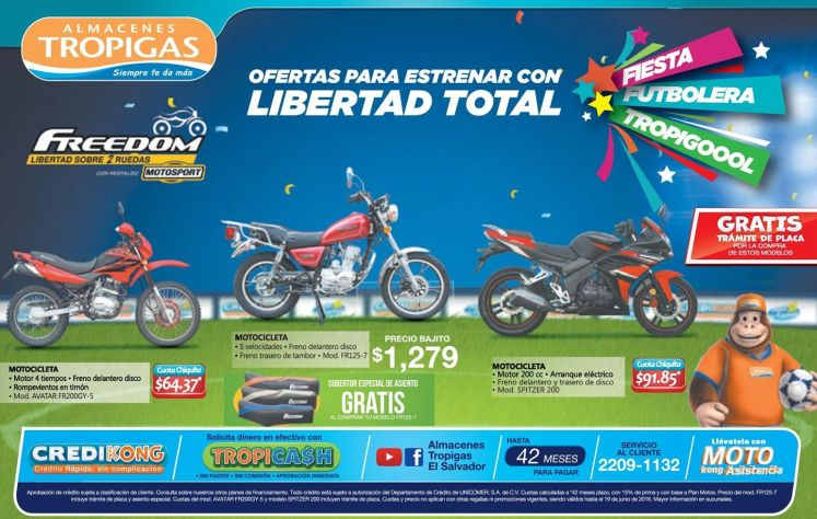 FREEDOM motocicletas en le mes del padre 2016