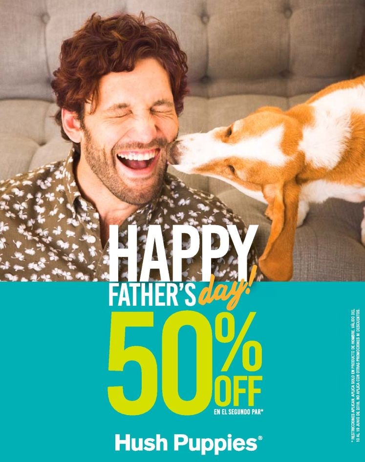 Hush puppies 50 OFF for father days 2016