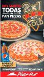 Todas las PAN PIZZA al 2x1 gracias a pizza hut