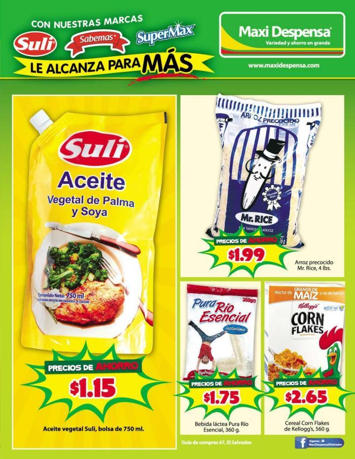 MAXI DEPENSA ofertas marcas salvadoreñas de productos