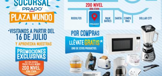 Nueva sucursal Almacenes PRADO plaza mundo soyapango