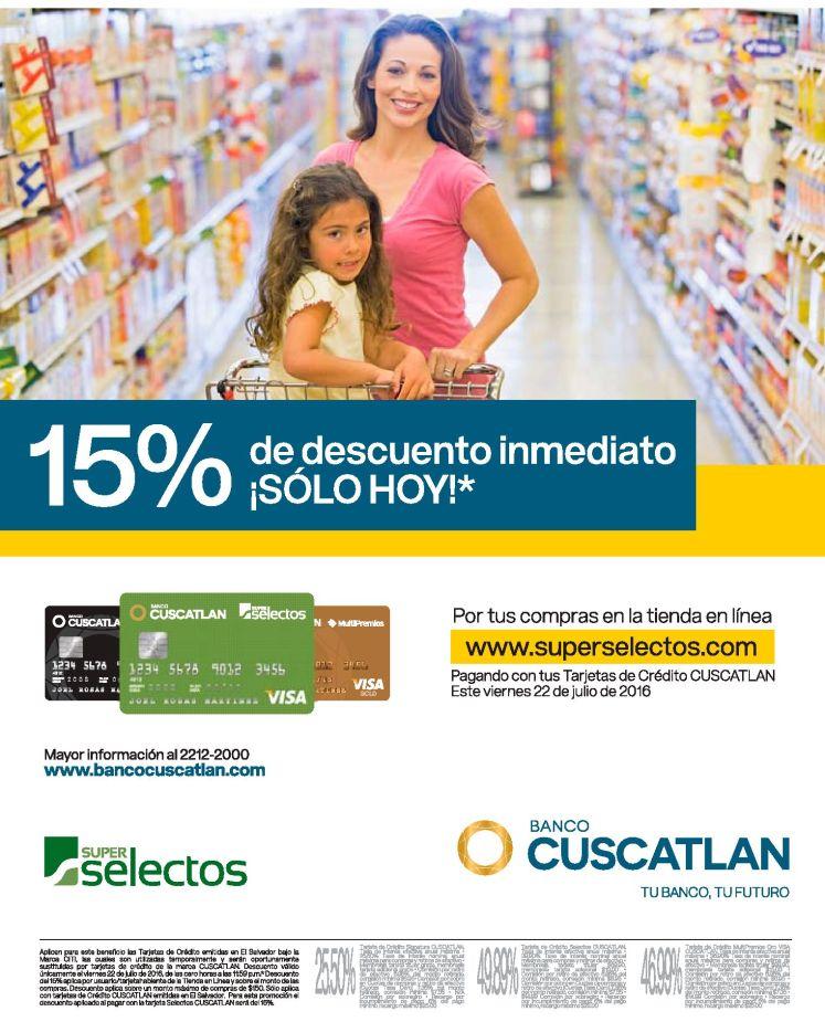 ONLINE discounts supermarket SUPER SELECTOS el salvador hoy