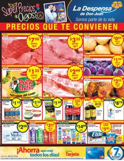 SUPER precios agostinos 2016 LA Despensa de Don Juan