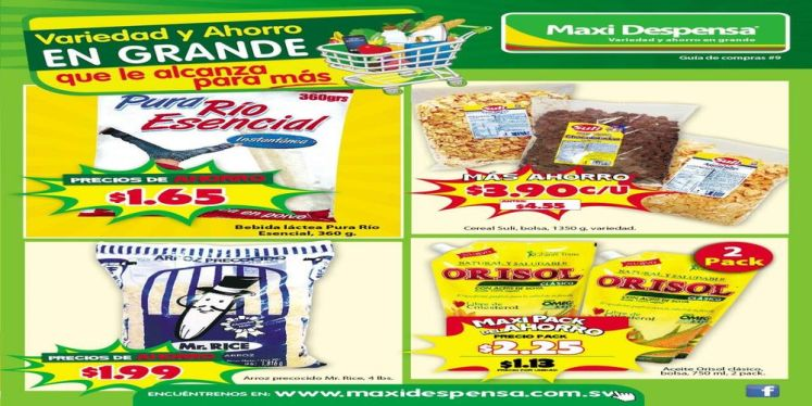 Ahorro en grande supermercados maxi despensa el salvador septiembre 2016