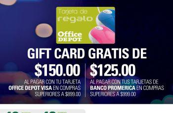 GIFT CARD en tus compras nocturna en OFFICE DEPOT sv - 31ago16