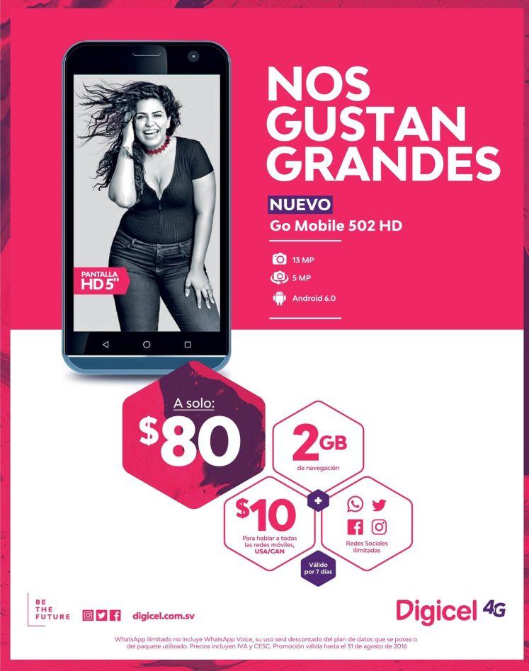 Go Mobile 502 HD smartphone DIGICEL 4G