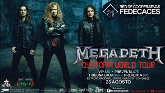 MEGADETH el salvador 2016 world tour dystopia