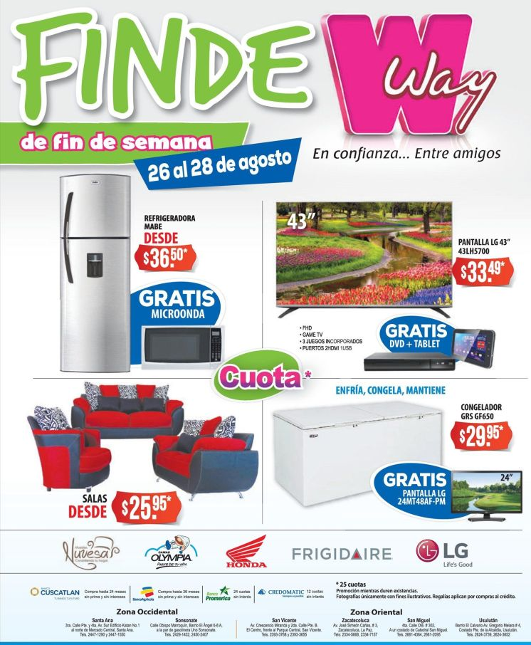 Ofertas Agencias way weekend