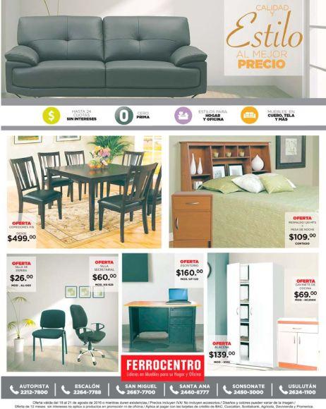 VEnta de muebles en el salñvador FERROCENTRO estilo a buen precio