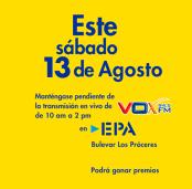 premios y promociones en EPA via rdio vox