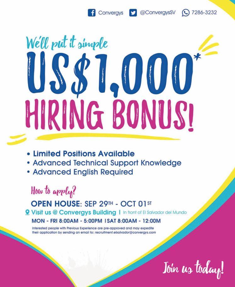 amazing-hiring-bonus-1000-dollars-open-house-job