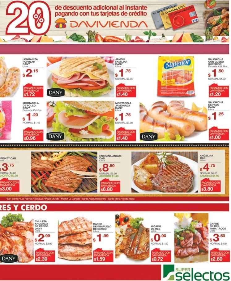 Carne de RES carnes de cerdo embutidos en promocion