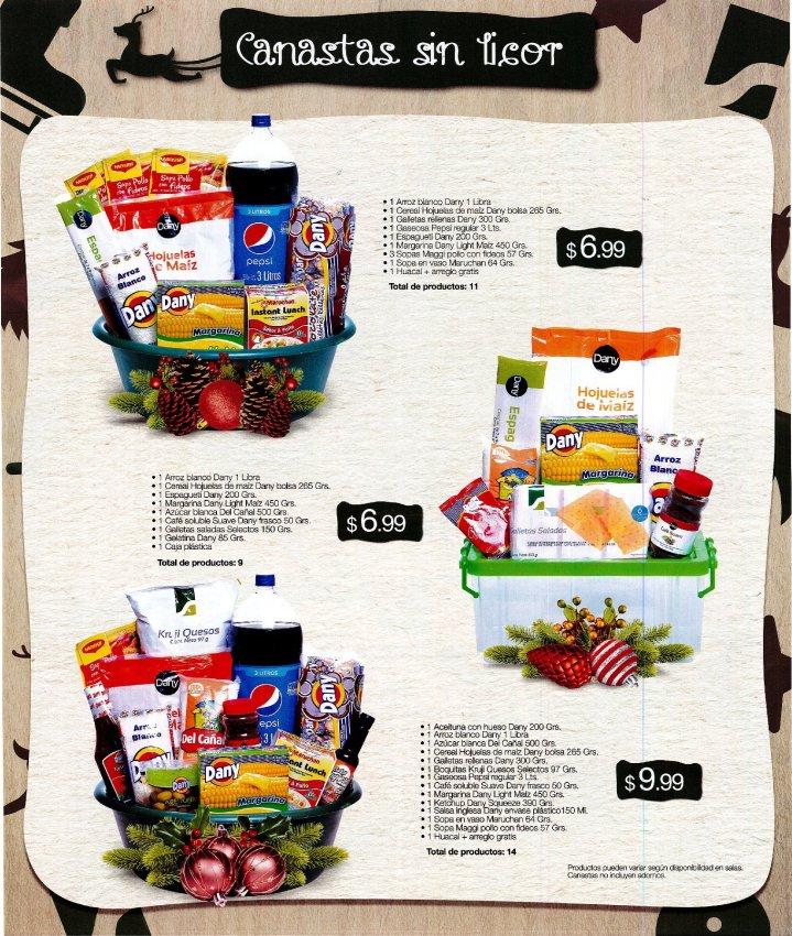 Canastas para navidad SUPER SELECTOS desde 6_99 de dolar