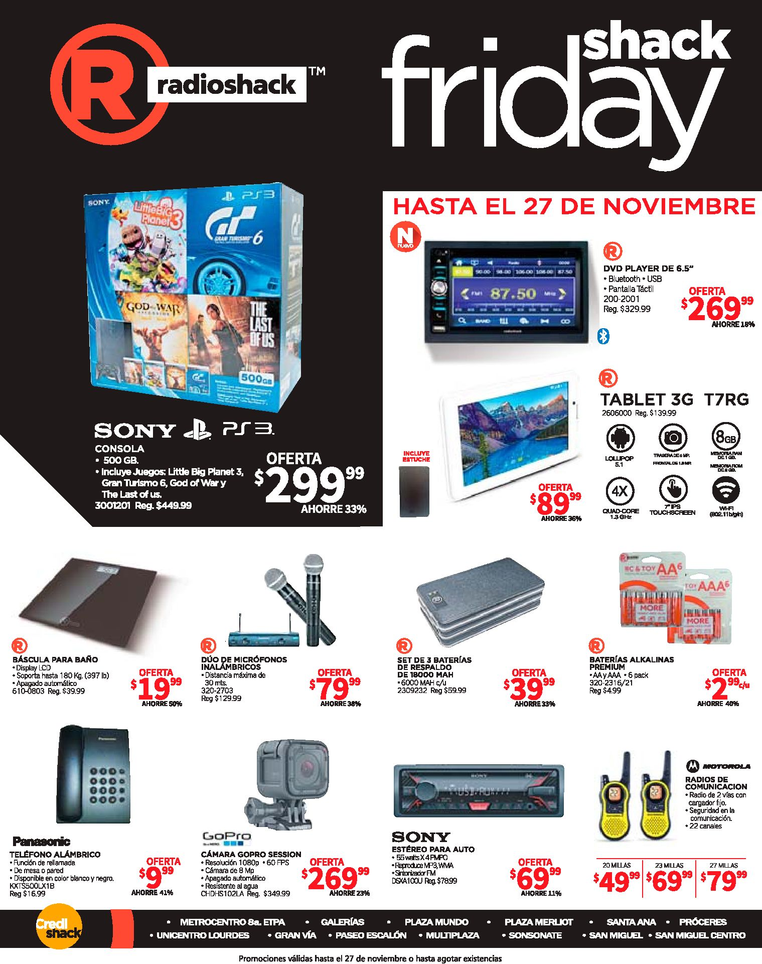 descuentos black friday 2016 radio shack elsalvador