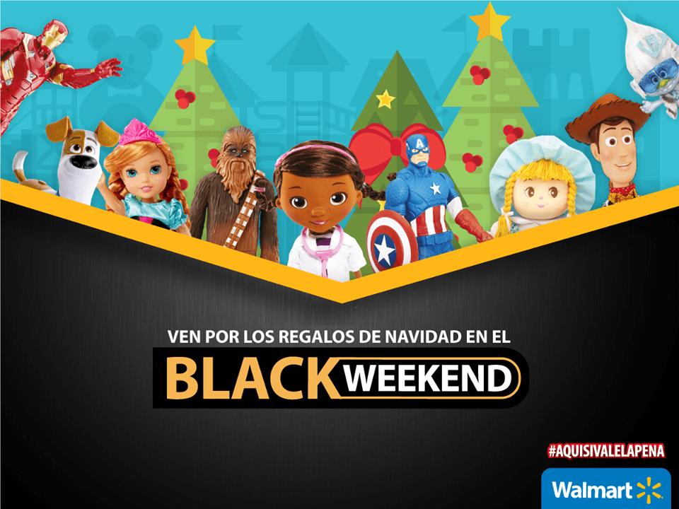 Los regalos y juguetes de navidad BLACK WEEKEND de walmart