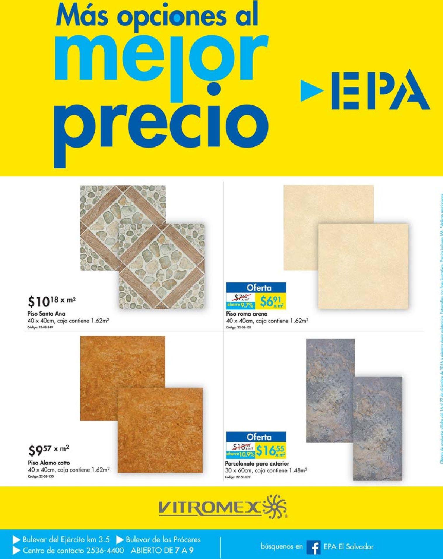 Promociones y ofertas epa el salvador for Pisos ceramicos en oferta