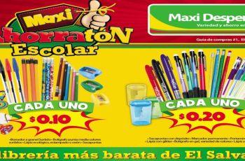 MAXI DESPENSA catalogo de utiles escolares 2017