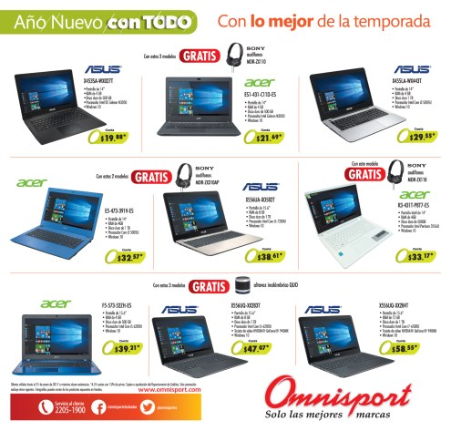 OMNISPORT Ofertas en computadoras portatiles escolar 2017