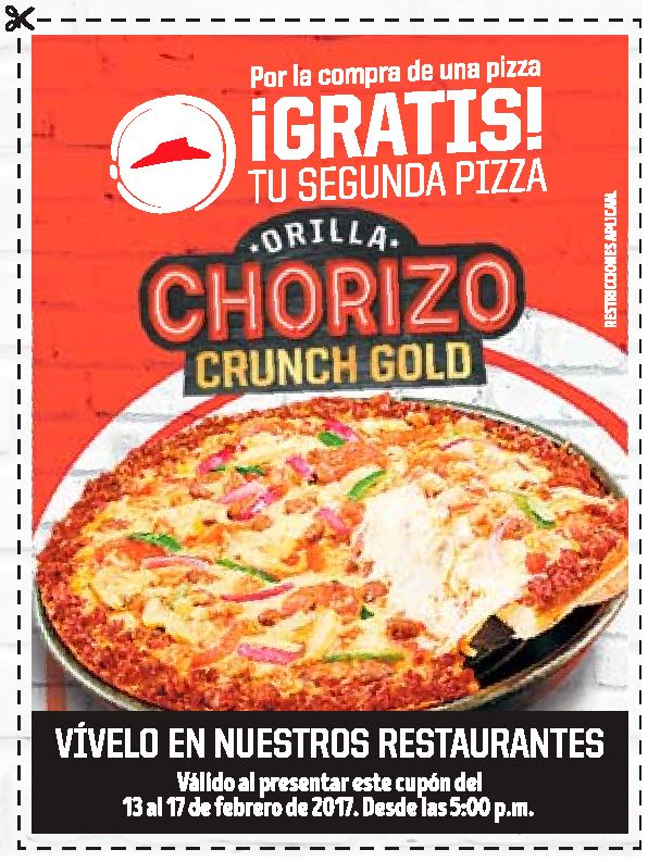 CANJEA tu cupon por una pizza gratis en pizza hut el salvador