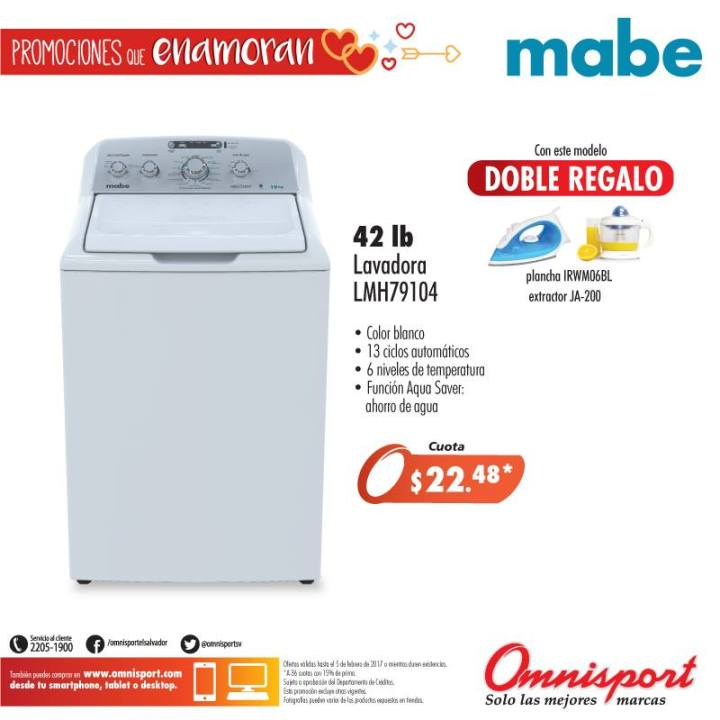 Lavadora de 42 libras marca MABE appliances - Ofertas Ahora