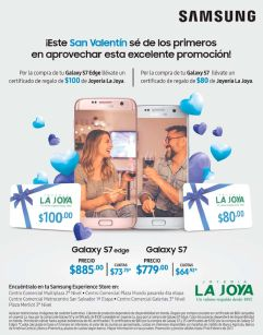 SAMSUNG store promotions jewelry gift card for valentines day