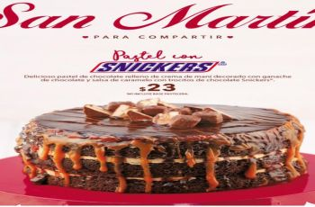 pastel de chocolate SNICKERS en panaderia san martin
