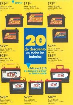 Descuentos Ferreteria EPA bateria para carros LTH y RAYO