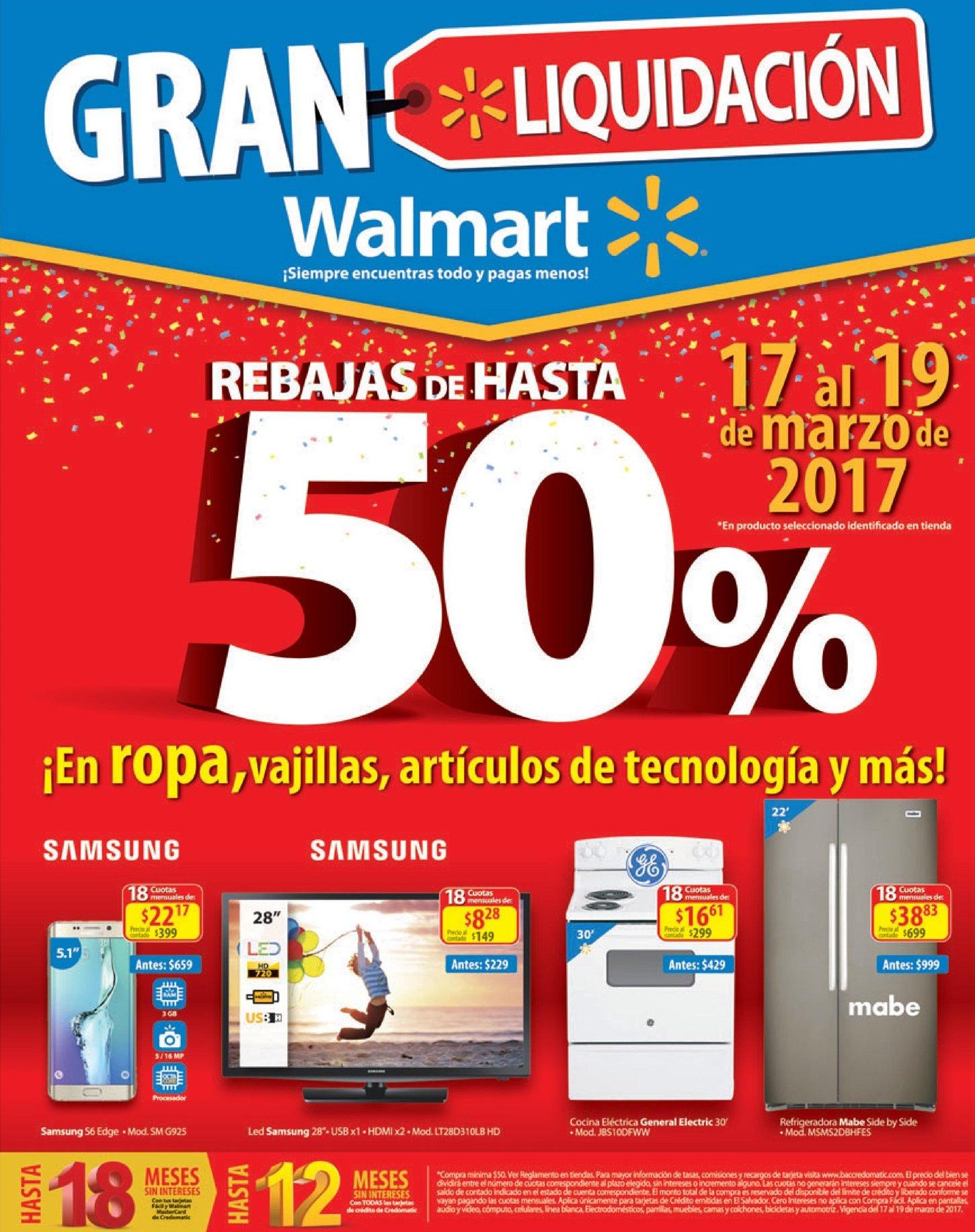 FIN DE SEMAMA walmart gran liquidacion en electrodomesticos y electronica