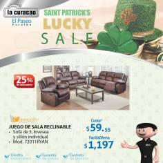 Juego de sala reclinable COMMODITY deals