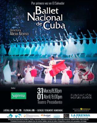 Presentacion del BALLET NACIONAL de CUBA en el salvador