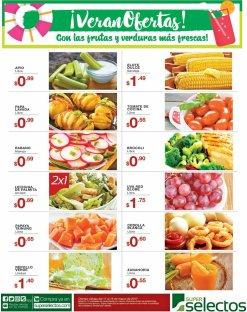 SELECTOS Frutas y verduras en oferta ahora viernes - 17mar17