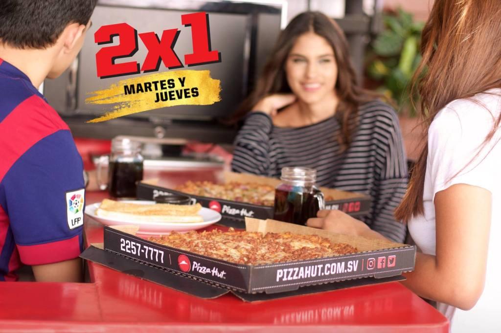 ofertas 2x1 en pizza hut el salvador