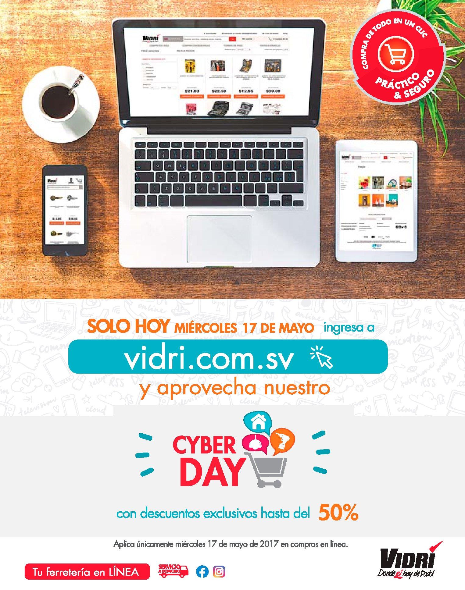 Celebra en el dia del internet PROMOCIONES CYBER DAY 2017