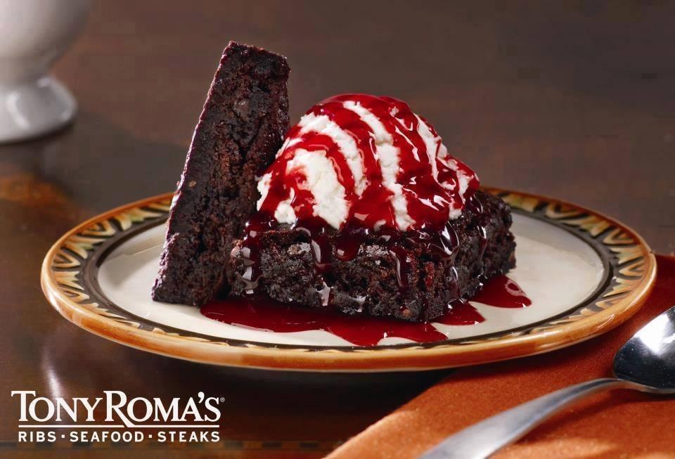 POstres de chocolate en tu restaurante tony romas sv