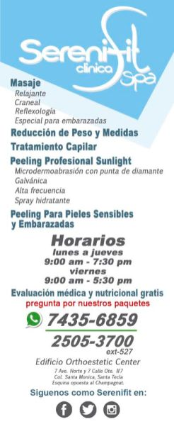 SereniFIT Clinica SPA de masajes santa tecla