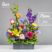 jardin de flroes en canasta creaciones celiflor 2017