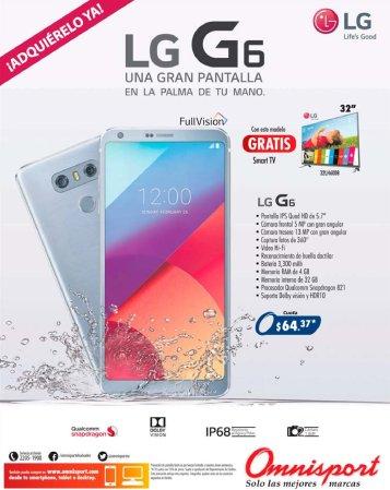 Adquiere tu nuevo celular LG G6 de alto rendimiento FULL VISION