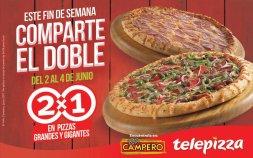 DOBLE PIZZA para ver la final de la champion telepizza sv