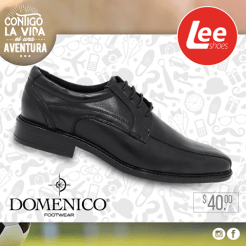LEE SHOES calzado negro formal para el colegio y oficina