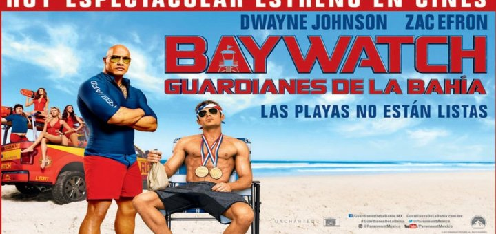 Las playas no estan lista con DWAYNE JOHNSON y ZAC EFRON