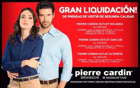 Liquidacion de prendas de vestir pierre cardin - junio 2017