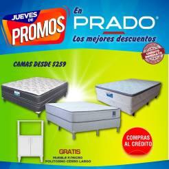 PRADO Jueves de PROMO camas desde 259 doalres